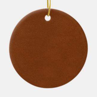 Leather Texture artistic background diy template Round Ceramic Decoration
