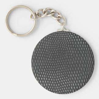 Leather texture closeup basic round button key ring