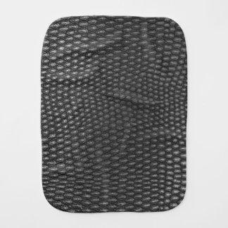 Leather texture closeup burp cloth