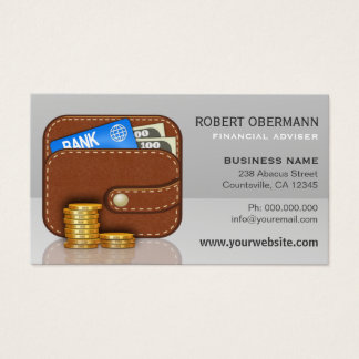 Leather Wallet Gold Coins Stack Financial Planner
