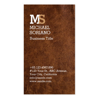 Leathercraft Leather Artisan Pack Of Standard Business Cards