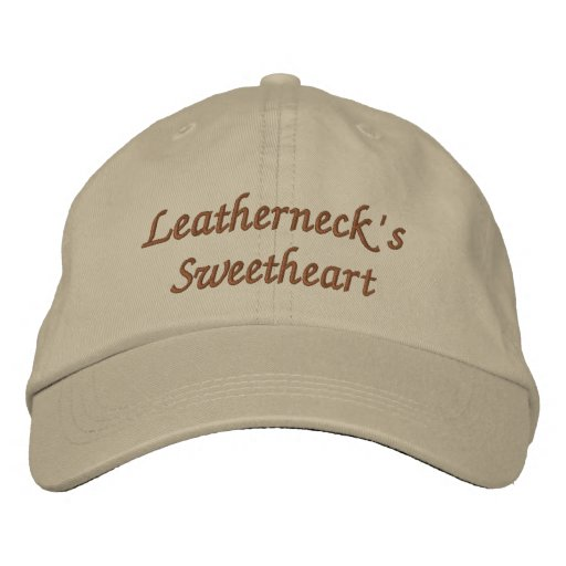 Leatherneck's Sweetheart Embroidered Hats