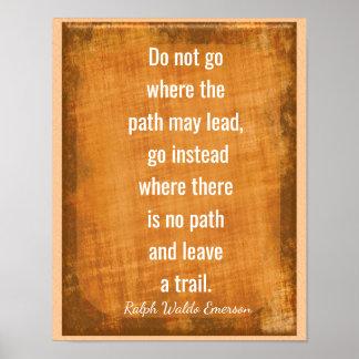 Leave a Trail -- Emerson Quote -- Art Print
