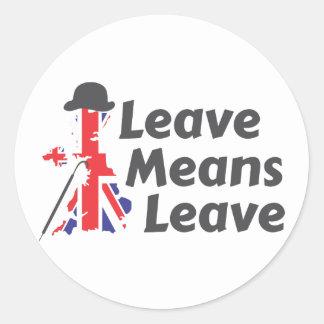 leave classic round sticker