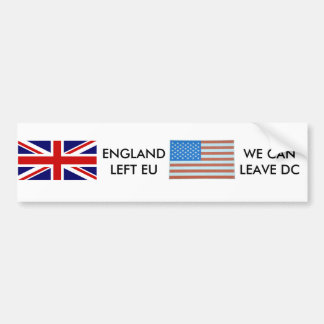 Leave DC Bumper Sticker
