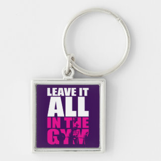 Leave It All In The Gym - Women's Deadlift Workout Silver-Colored Square Key Ring