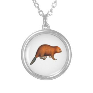 Leave it to Beaver Silver Plated Necklace