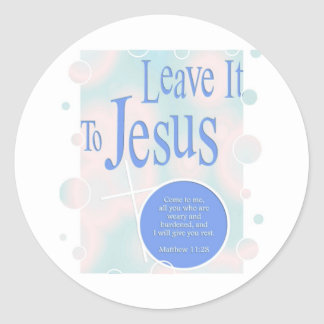 Leave it to Jesus Classic Round Sticker