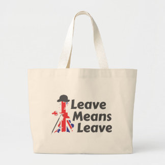 leave jumbo tote bag