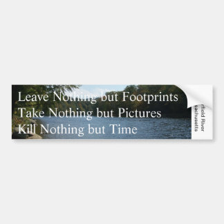 Leave Nothing but...Bumper Sticker Bumper Sticker