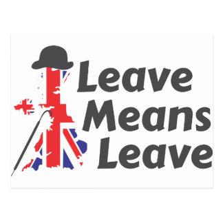leave postcard