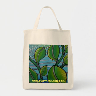 Leave Print on Organic Grocery Tote
