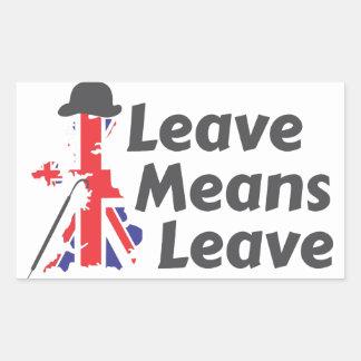 leave rectangular sticker