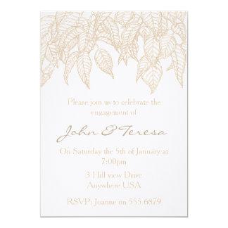 Leaves 13 Cm X 18 Cm Invitation Card