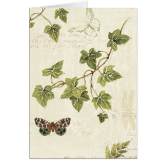 Leaves and a Butterfly Card