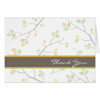Leaves and Branches Thank You Card