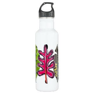 leaves and feathers 710 ml water bottle