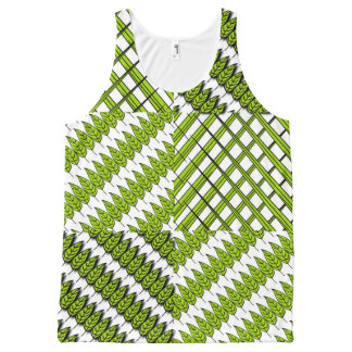 Leaves and Grass All-Over Printed Unisex Tank Top All-Over Print Tank Top