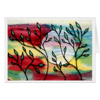 Leaves and Ink Transparent Layers Note Card