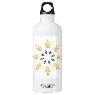 Leaves and mandala design Edition Water Bottle