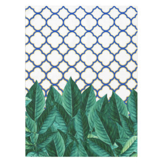 Leaves and Tiles Tablecloth