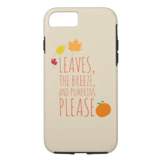 Leaves, breeze, and pumpkins phone case