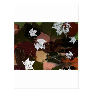 Leaves Camo Print Postcard