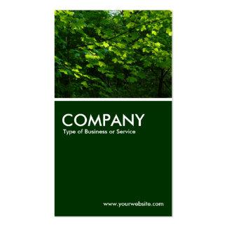 Leaves - Dark Green Pack Of Standard Business Cards
