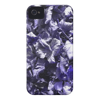 Leaves - Denim Blue Case-Mate iPhone 4 Cases