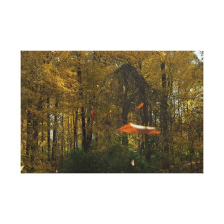 Leaves falling canvas print
