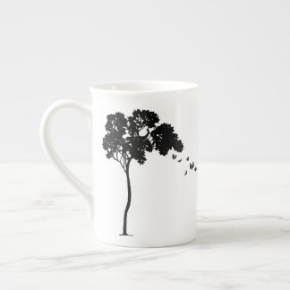 Leaves Falling Off a Tree Bone China Mug