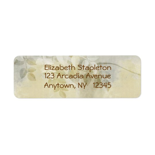 Leaves Floral Address Label