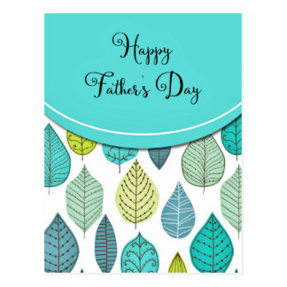 Leaves Happy Father's Day Postcard