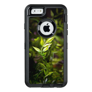 Leaves in focus OtterBox defender iPhone case