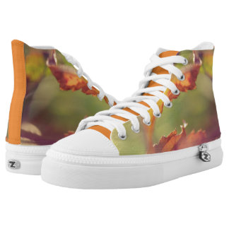 Leaves in the wind high tops