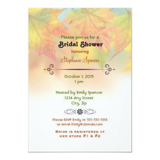 Leaves of Autumn Bridal Shower Invitation