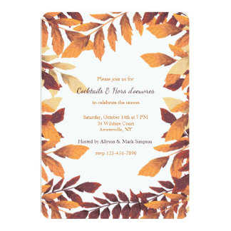 Leaves of Autumn Invitation
