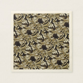 Leaves Of Bronze Paper Napkin