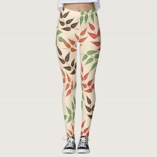 leaves of colors leggings