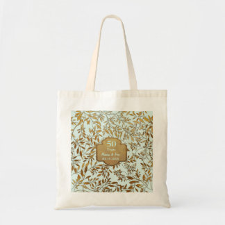 Leaves of Gold 50th Wedding Anniversary Tote Bag