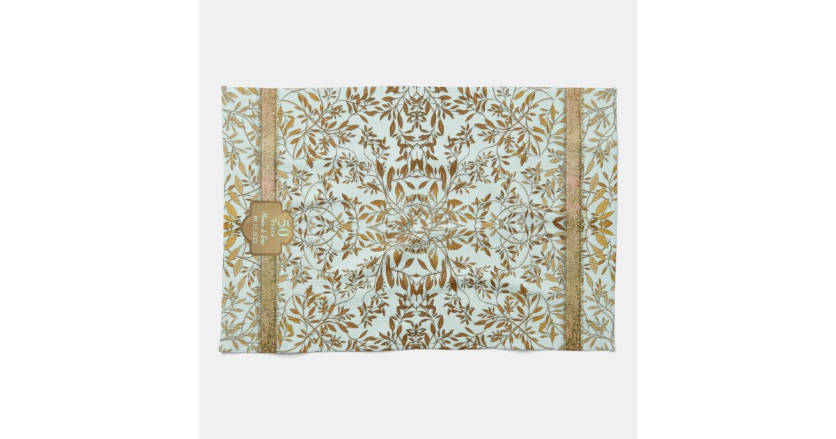 Leaves Of Gold 50th Wedding Anniversary Towels Zazzle
