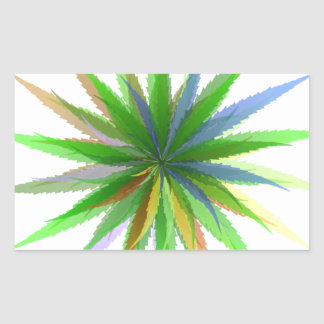 leaves of grass rectangular sticker