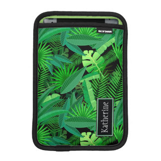Leaves Of Tropical Palm Trees | Add Your Name iPad Mini Sleeve