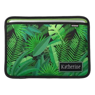 Leaves Of Tropical Palm Trees | Add Your Name MacBook Sleeves