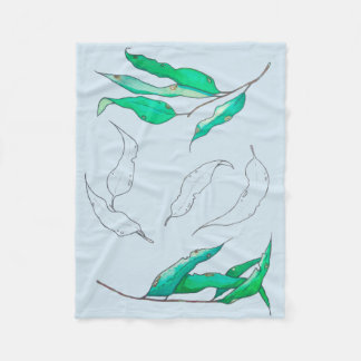 Leaves of willow fleece blanket