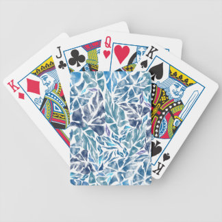 leaves pattern  A Bicycle Playing Cards