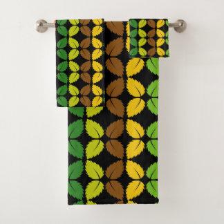 Leaves Pattern Towel Set