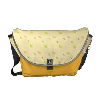 leaves patterns courier bags