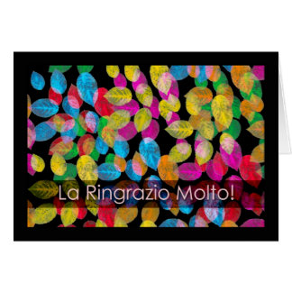Leaves, Thank You Very Much in Italian Greeting Card