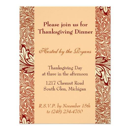Leaves Thanksgiving Invitations